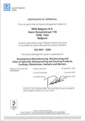 ISO Certificate RPM ENG